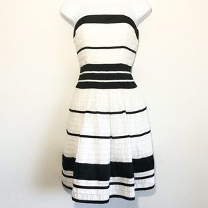 The Limited Strapless Striped Dress Women's Size 0